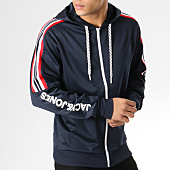 /achat-sweats-zippes-capuche/jack-and-jones-sweat-capuche-zippe-avec-bandes-winner-bleu-marine-165150.html