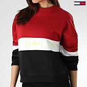 /achat-sweats-col-rond-crewneck/tommy-hilfiger-jeans-sweat-crewneck-femme-colorblock-6001-rouge-blanc-noir-165100.html