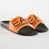 /achat-claquettes-sandales/ea7-claquettes-slipper-visibility-xcp001-xcc22-noir-orange-fluo-165200.html