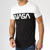 /achat-t-shirts-longs-oversize/nasa-tee-shirt-oversize-bicolore-worm-logo-noir-blanc-165208.html