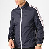 /achat-coupe-vent/antony-morato-coupe-vent-avec-bandes-abbigliamento-bleu-marine-blanc-165287.html