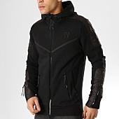 /achat-sweats-zippes-capuche/venum-sweat-zippe-capuche-laser-evo-noir-165318.html