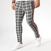 /achat-pantalons-carreaux/classic-series-pantalon-carreaux-avec-bandes-f2512-noir-blanc-rouge-165386.html