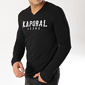 /achat-t-shirts-manches-longues/kaporal-tee-shirt-manches-longues-pizak-noir-165335.html