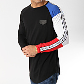 /achat-t-shirts-manches-longues/gianni-kavanagh-tee-shirt-manches-longues-oversize-avec-bande-core-block-noir-blanc-rouge-165480.html