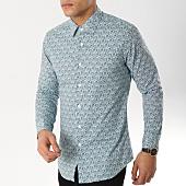 /achat-chemises-manches-longues/mtx-chemise-manches-longues-z229-vert-blanc-floral-165532.html