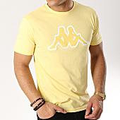 /achat-t-shirts/kappa-tee-shirt-logo-ofena-304ppn0-jaune-165812.html