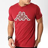 /achat-t-shirts/kappa-tee-shirt-logo-ofena-304ppn0-bordeaux-165814.html