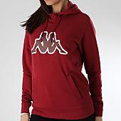 /achat-sweats-capuche/kappa-sweat-capuche-femme-authentic-logo-onno-304ppw0-bordeaux-165818.html