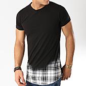 /achat-t-shirts-longs-oversize/berry-denim-tee-shirt-oversize-carreaux-jak-091a-noir-blanc-165869.html
