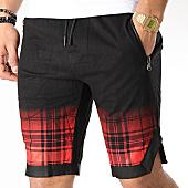 /achat-shorts-jogging/berry-denim-short-jogging-jak-091b-noir-rouge-165877.html