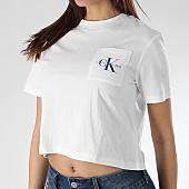 /achat-t-shirts-poche/calvin-klein-tee-shirt-poche-crop-femme-monogram-9736-blanc-166032.html