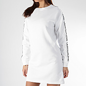 /achat-robes/calvin-klein-robe-sweat-femme-institutionnal-track-logo-0399-blanc-noir-166038.html
