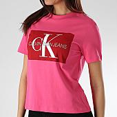 /achat-t-shirts/calvin-klein-tee-shirt-femme-iconic-monogram-box-1216-rose-166055.html