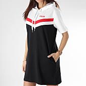 2bbea6ab401 Calvin Klein - Robe Capuche Femme Cheerleader 1352 Noir Blanc Rouge