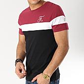 /achat-t-shirts/final-club-tee-shirt-tricolore-avec-broderie-174-noir-blanc-bordeaux-166240.html