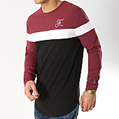 /achat-t-shirts-manches-longues/final-club-tee-shirt-manches-longues-tricolore-avec-broderie-173-noir-blanc-bordeaux-166243.html
