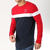 /achat-t-shirts-manches-longues/final-club-tee-shirt-manches-longues-tricolore-avec-broderie-165-bleu-marine-blanc-rouge-166244.html