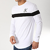 /achat-t-shirts-manches-longues/final-club-tee-shirt-manches-longues-tricolore-avec-broderie-170-blanc-noir-blanc-166245.html