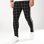 /achat-pantalons-carreaux/gianni-kavanagh-pantalon-carreaux-avec-bandes-checkered-noir-blanc-166210.html
