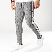 /achat-pantalons-carreaux/gianni-kavanagh-pantalon-carreaux-avec-bandes-checkered-gris-noir-blanc-166212.html