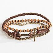 /achat-bracelets/icon-brand-lot-de-3-bracelets-onwards-combo-marron-dore-166112.html