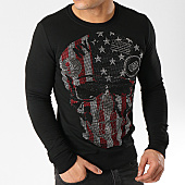 /achat-sweats-col-rond-crewneck/uniplay-sweat-crewneck-a-strass-zs007-noir-166164.html