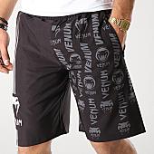 /achat-shorts-jogging/venum-short-jogging-logos-03447-noir-gris-blanc-166220.html