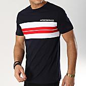 /achat-t-shirts/antony-morato-tee-shirt-tricolore-mmks01456-bleu-marine-blanc-rouge-166273.html