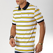 /achat-polos-manches-courtes/guess-polo-manches-courtes-m92p32k8500-blanc-jaune-bleu-marine-166440.html
