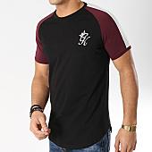 /achat-t-shirts-longs-oversize/gym-king-tee-shirt-oversize-contrast-1104-noir-bordeaux-vert-166423.html