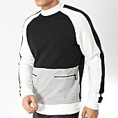 /achat-sweats-col-rond-crewneck/only-and-sons-sweat-crewneck-avec-bandes-owen-noir-blanc-gris-chine-166616.html