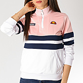 /achat-sweats-col-zippe/ellesse-sweat-col-zippe-femme-1076n-blanc-rose-bleu-marine-166737.html