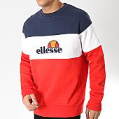 /achat-sweats-col-rond-crewneck/ellesse-sweat-crewneck-1032n-rouge-blanc-bleu-marine-166817.html
