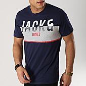 /achat-t-shirts/jack-and-jones-tee-shirt-viking-bleu-marine-gris-chine-166791.html