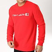 /achat-sweats-col-rond-crewneck/teddy-smith-sweat-crewneck-strat-rouge-166689.html