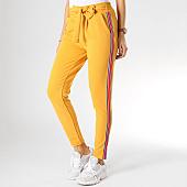 /achat-pantalons-carreaux/girls-only-pantalon-femme-avec-bandes-9255-moutarde-rouge-166989.html