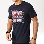 /achat-t-shirts/napapijri-tee-shirt-sachu-n0yijd-bleu-marine-166963.html