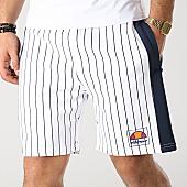 /achat-shorts-jogging/ellesse-short-jogging-stripes-1033n-blanc-bleu-marine-167046.html