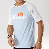 /achat-t-shirts/ellesse-tee-shirt-bicolore-1031n-bleu-clair-blanc-167157.html