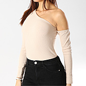 /achat-t-shirts-manches-longues/girls-only-body-femme-manches-longues-v2174-beige-167027.html