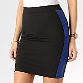 /achat-jupes/girls-only-jupe-femme-avec-bandes-v939-noir-bleu-roi-167028.html