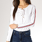 /achat-t-shirts-manches-longues/girls-only--tee-shirt-manches-longues-oversize-avec-bandes-femme-s106-blanc-167090.html