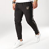 /achat-pantalons-joggings/siksilk-pantalon-jogging-avec-bandes-13673-noir-dore-167006.html