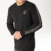 /achat-sweats-col-rond-crewneck/siksilk-sweat-crewneck-avec-bandes-14327-noir-dore-167007.html