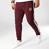/achat-pantalons-joggings/siksilk-pantalon-jogging-avec-bandes-13725-bordeaux-ecru-dore-167047.html