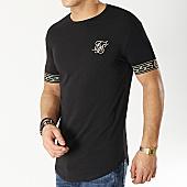 /achat-t-shirts-longs-oversize/siksilk-tee-shirt-oversize-14061-noir-dore-167061.html
