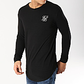 /achat-t-shirts-manches-longues/siksilk-tee-shirt-oversize-manches-longues-14324-noir-argente-167082.html