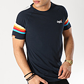/achat-t-shirts/superdry-tee-shirt-orange-label-engineered-stripe-bleu-marine-167245.html