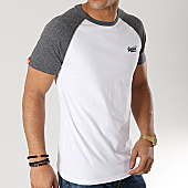 /achat-t-shirts/superdry-tee-shirt-orange-label-baseball-blanc-gris-chine-167247.html